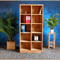 Indonesian Teak Furniture Bookcase 2 Coulmns Preview Version
