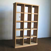 Indonesian Teak Furniture Bookcase 3 Columns Preview Version