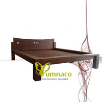 Yumna Japanese Solid Bed - Reclaimed Recycled Indonesian Teak Furniture