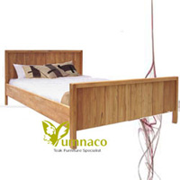Yumna Mission Vintage Bed - Reclaimed Recycled Indonesian Teak Furniture