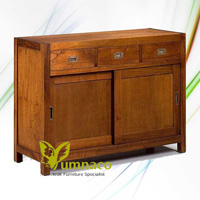 Sideboard Sliding Door - Reclaimed Indonesian Teak Furniture