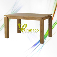 Yumna Thickleg Dining Table - Reclaimed Indonesian Teak Furniture