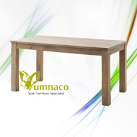 Yumna White Dining Table - Indonesian Reclaimed Teak Furniture