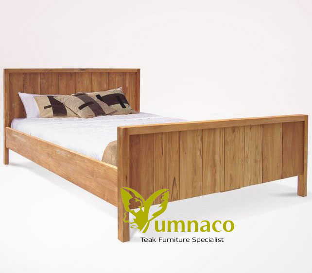 Indonesian Reclaimed Teak Furniture Yumna Mission Vintage Bed
