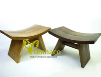 Yumna Antique Wooden Milking - Reclaimed Indonesian Teak Furniture