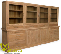 Yumna Idaho Bookcase 300 - Reclaimed Indonesian Teak Furniture