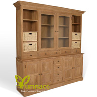 Yumna Warsaw Bookcase 200  - Reclaimed Indonesian Teak Furniture