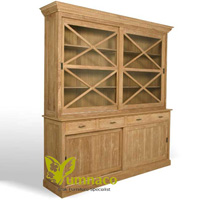 Yumna Bookcase Sliding Door - Reclaimed Indonesian Teak Furniture