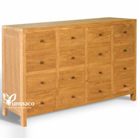 Yumna Solid Chest of 16D - Indonesian Indoor Teak Furniture