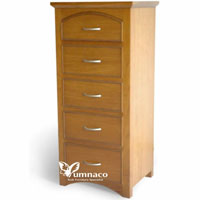 Yumna Teak Chest of 5 Drawers - Indonesian Indoor Teak Furniture