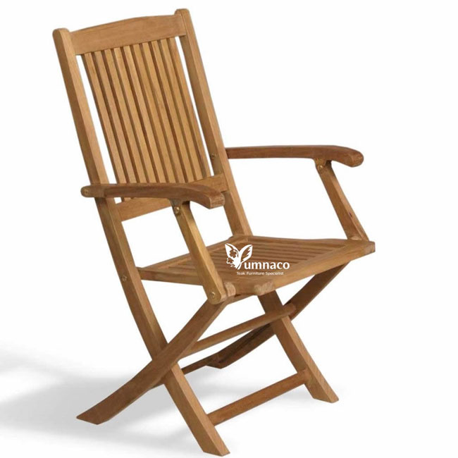 Teak Garden Furniture Yumna Folding Trnava Armchair
