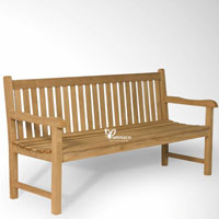 Yumna garden bench 150 - Indonesian Outdoor Garden Teak Furniture