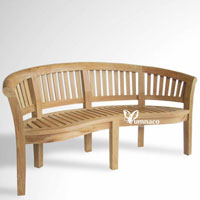 Yumna Haven Bench 02-Indonesian Outdoor Garden Teak Furniture