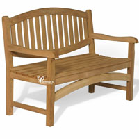 Yumna Oval Bench 130 - Indonesian Outdoor Garden Teak Furniture
