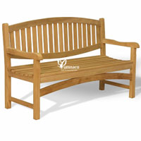 Yumna Oval Bench 150 - Indonesian Outdoor Garden Teak Furniture