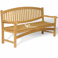 Yumna Oval Bench 180 - Indonesian Outdoor Garden Teak Furniture