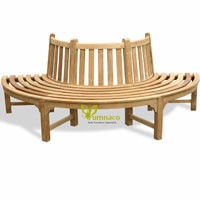 Yumna Tree Half Round - Indonesian Outdoor Garden Teak Furniture