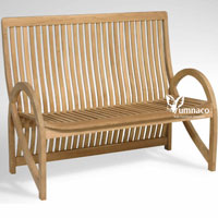 Yumna Zurich Bench - Indonesian Outdoor Garden Teak Furniture