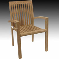 Dunajec Stacking Chair - Indonesian Outdoor Teak Furniture