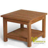 Yumna Coffee Aldifa Table - Indonesian Outdoor Teak Furniture